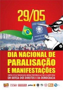 29 de maio é o Dia Nacional das Manifestações e Paralisações