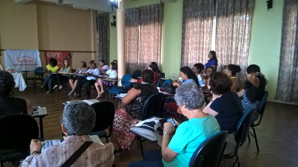 Análise da conjuntura econômica no Brasil e impactos no trabalho doméstico, tendo como palestrante a economista Jana Silverman, AFL-CIO Solidarity Center CESIT-UNICAMP