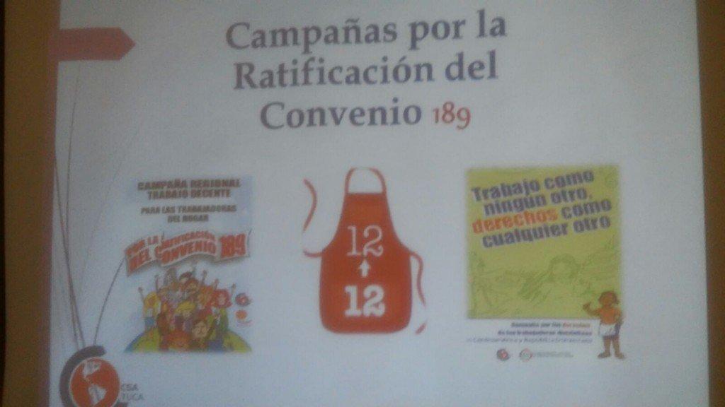 Pela ratificação da Convenção 189, Fenatrad foi representada no Chile