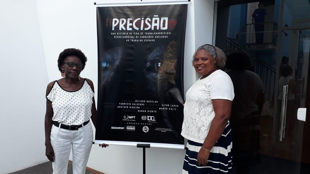 Diretoras da FENATRAD participam de lançamento do filme documentário sobre trabalho escravo