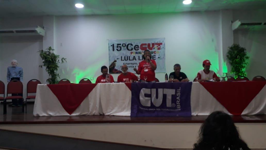 Nova diretoria da CUT/PE- Luiza Batista representa a FENATRAD na direção estadual