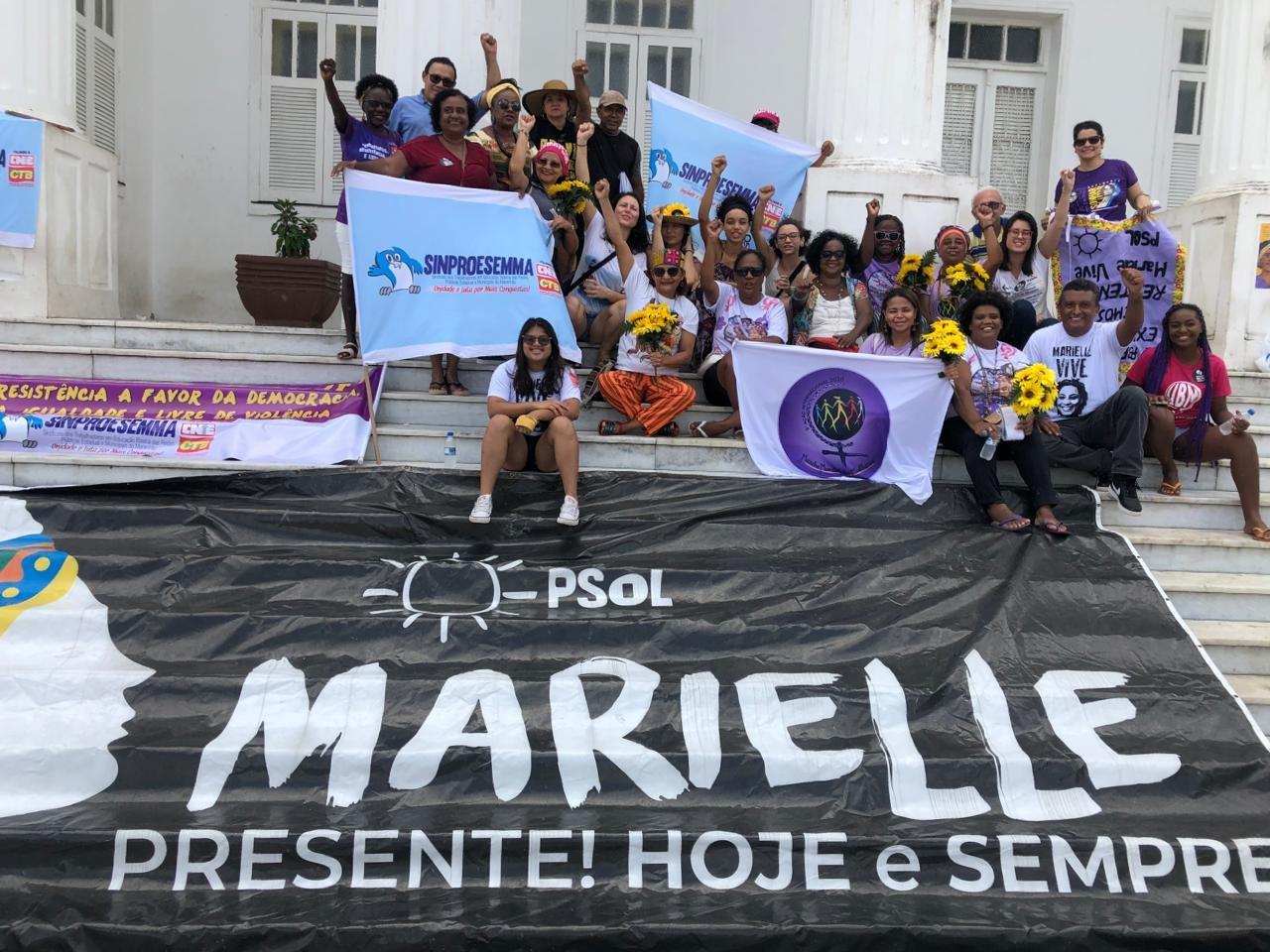 Sindoméstico do MA participa de ato pelos dois anos de morte de Marielle Franco e Anderson Gomes