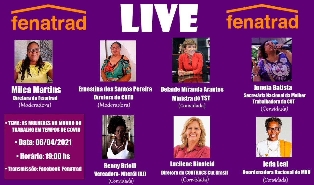 FENATRAD realiza série de lives em comemoração ao Dia Nacional das Trabalhadoras Domésticas