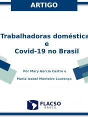 """Artigo """"Trabalhadoras domésticas e a covid-19 no Brasil: Encenando resistências, apresentando cenários e desafios"""""""